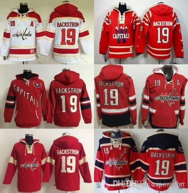 07dc3c1f8d5 2019 2017 Cheap Mens Womens Kids Washington Capitals Gear Nicklas Backstrom  19 Red White Color Sweatshirt Hoodies Winter Jerseys .