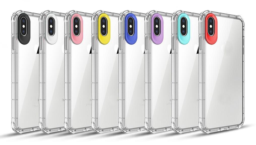aefda57d248 Accesorios Telefonia Movil Carcasa De TPU Suave A Prueba De Golpes De  Cristal Para Iphone XR XS MAX X 10 8 7 Plus 6 6S Galaxy Note 9 S9 S8 Hybrid  Bicolor ...