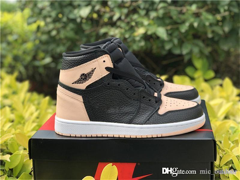 new product 42352 fc36f 2019 Hot Release Originals 1 High OG Crimson Tint Rust Pink 1S Men Women  Basketball Shoes Authentic Sports Sneakers With Box 555088-081