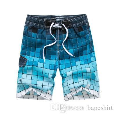 52724a8f0e New Plaid Print Men's Beach Pants Beach Holiday Surf Pants Casual Home Big  Shorts Male Hot Sale Swimming Pants Mens Swimming Pants Beach Shorts Online  with ...