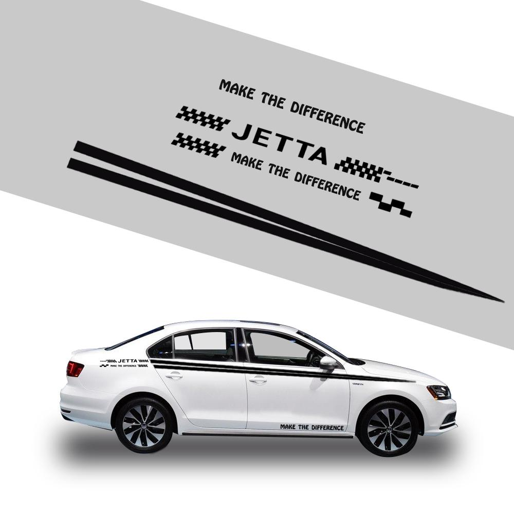 Car side body decal stickers racing graphic and words waterproof self adhesive diy decoration sticker for volkswagen jetta