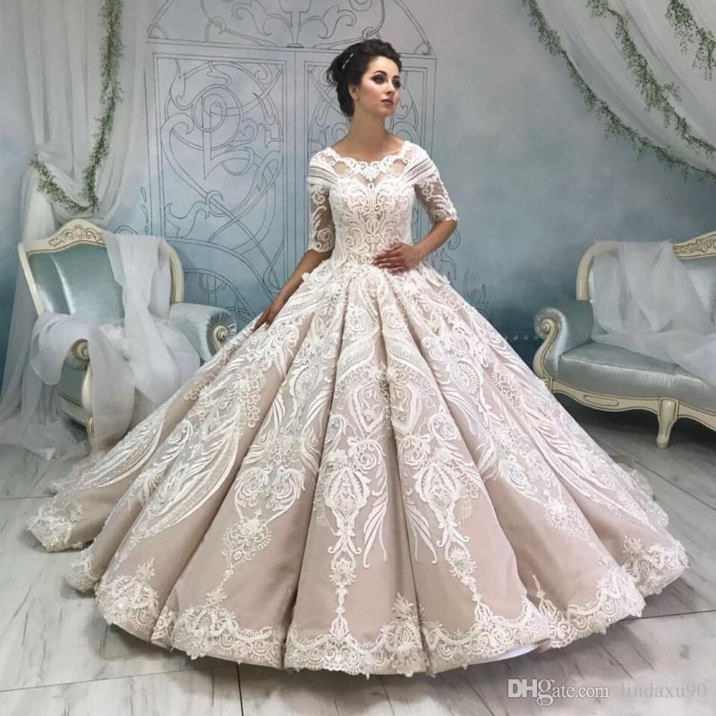 [تصویر:  luxury-ball-gown-wedding-dresses-2019-lace.jpg]
