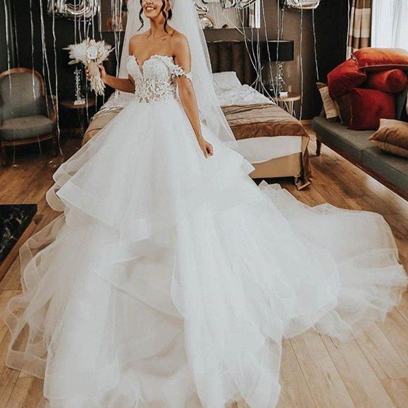 Acquista Abiti Da Sposa Abiti Da Sposa Bellissimi Abiti Da Sposa Bianco  Noiva Abiti Da Sposa Su Misura Pizzo Abiti Da Sposa Mariage A  196.86 Dal  ... 79449a7b708