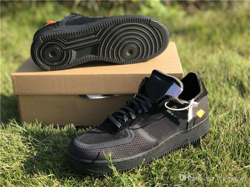 aa93b2aff Off Black Forces Volt Green Running Shoes Womens Mens Trainers ...