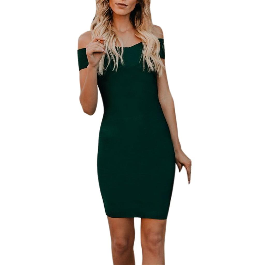 be51ce0cc08 Women S Black Summer Long Sleeve Cutout Short Dress Bandage Nightclub Party  Dress Lady Ms. Off Shoulder Sexy Dress 7 Designer Cocktail Dress Dress  Clothing ...