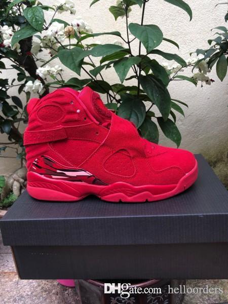 online store 8c6ac 1f295 Senhoras BC luxo Nike air jordan Retro 8 designer mens tênis de basquete  Cimento Alternativo Valentine Verdadeiro Primeiro Andar Homens sapatilhas  ...