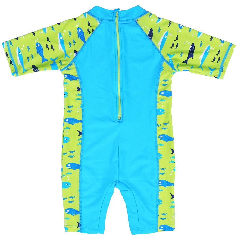 BAOHULU Boys' Swimwear One Piece Cartoon Sharks Swimsuit Kids Boy Sports Bodysuit Beachwear Children Swim Suits Bathing Suit