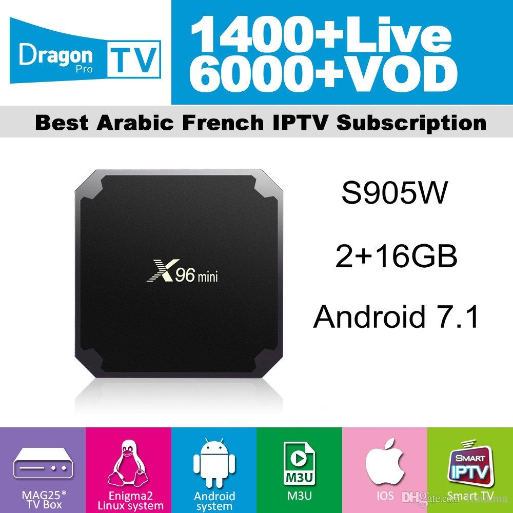 X96 Mini Iptv Box With Dragon Pro Iptv 1400 Live 6000 VOD For France Italy  UK Arab Belgium