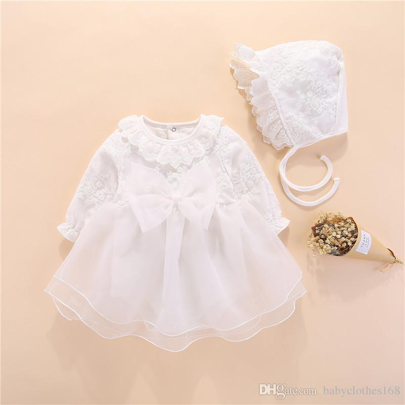34ead71e9469 2019 Red Christening Dresses Newborn Baby Girl Clothes Cotton Cute Baby  Girls Dress Long Sleeve Gowns Princess Dress 0 3 Month From Babyclothes168
