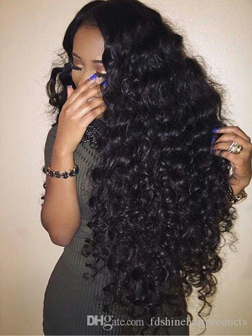 Pre Plucked 8-30 Inch Deep Wave Lace Front Wig With Baby Hair Natural Color Can Be Dyed Unprocessed Human Hair FDSHINE HAIR