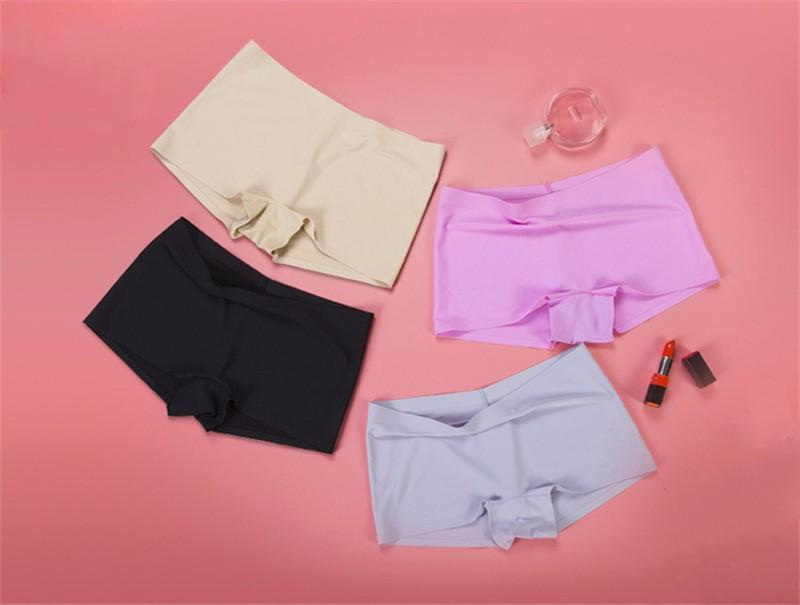 7e15bf43e 2019 Women Seamless Boxer Panties Solid Underwear Boyshort Skin Friendly  Ice Silk Breathable Panties Ladie Sexy Health Hot Underwear From Nihaode