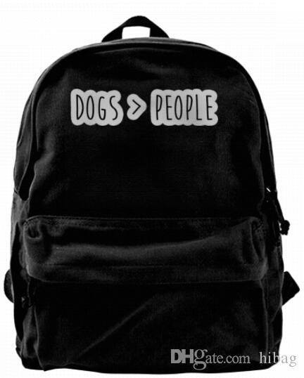 Dogs Are Greater Than People Fashion Canvas designer backpack For Men & Women Teens College Travel Daypack Leisure bag Black