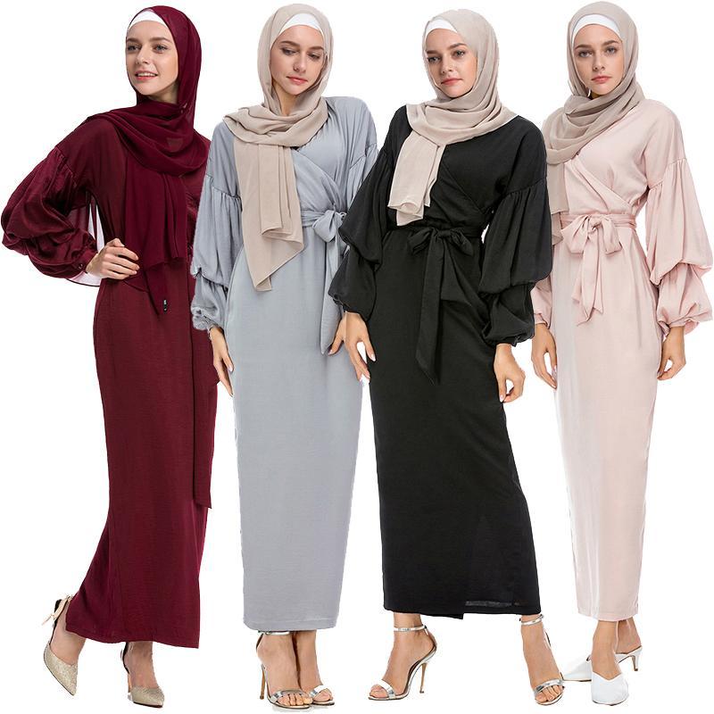Sporting Fashion Islamic Women Clothing Kaftans Jilbab Fibre Abaya Long Dress Lace Activity & Gear