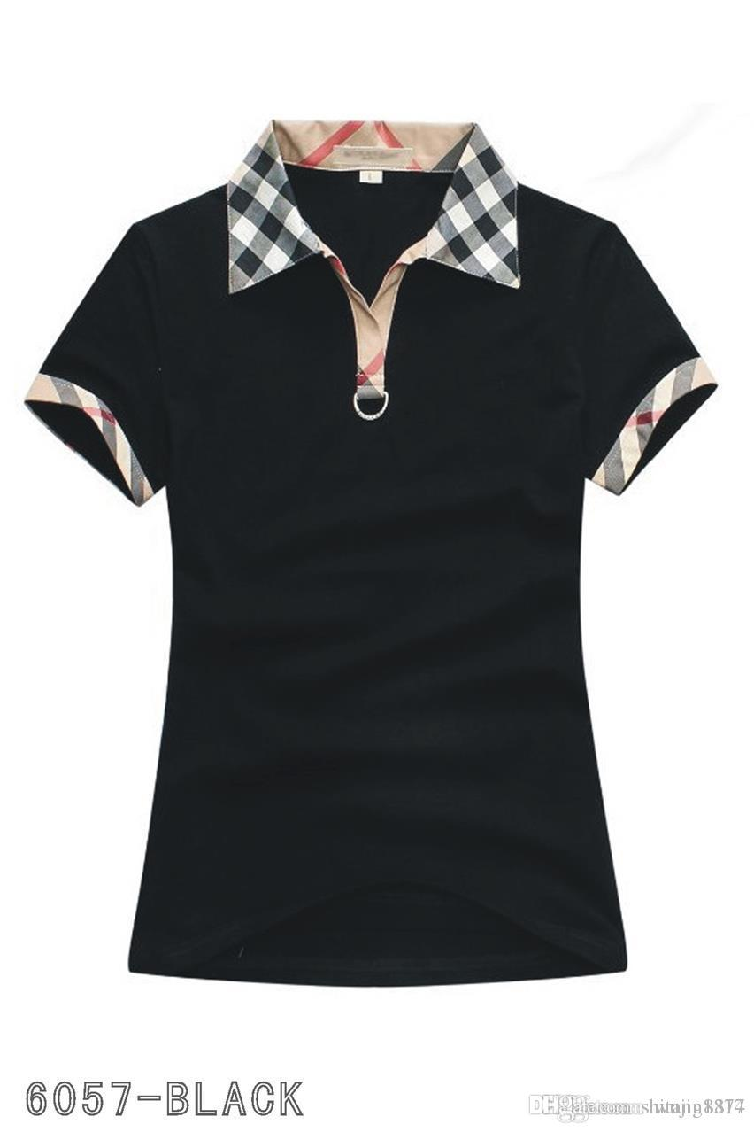 2b41567aeb6 Compre Polos Para Mujer Moda Casual Camisa Polo Para Mujer Camisa Polo es S  2XL Camisetas Blusa Mujer Camiseta A018 A $18.49 Del Shitang8877 |  DHgate.Com