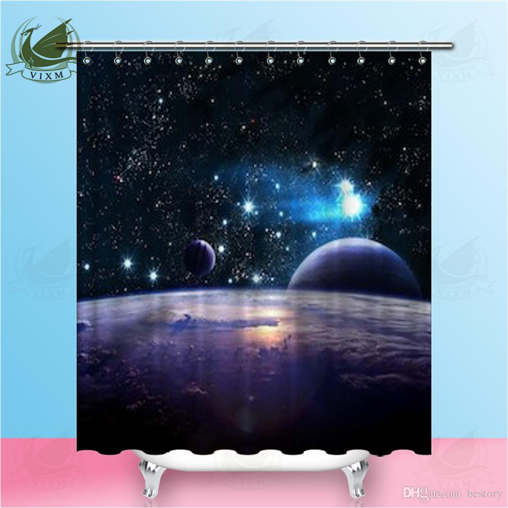 2019 Vixm Cosmic Art Science Fiction Wallpaper Deep Space Beauty Shower Curtains Polyester Fabric For Home Decor From Bestory 1665