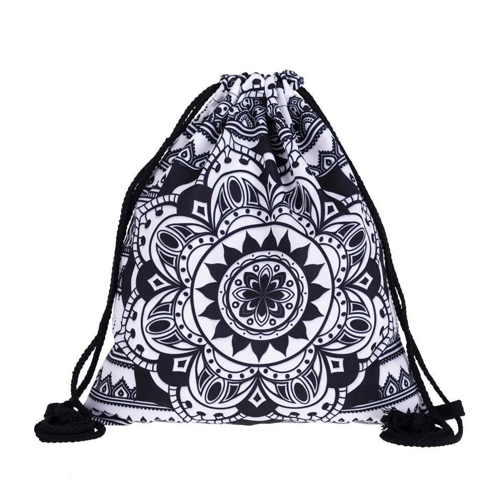 9d9e61d79c0 2019 New Fashion Backpack Men Women Unisex Shoulder Bag Mandala 3d Printing Bags  Drawstring Backpack School Bags For Teenage Backpacking Backpacks ...