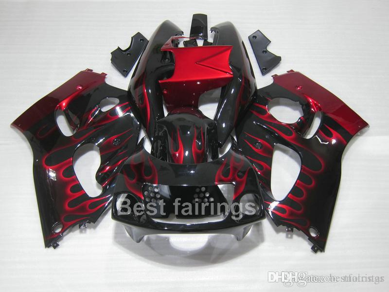 ZXMOTOR High quality fairing kit for SUZUKI GSXR600 GSXR750 SRAD 1996-2000 black red GSXR 600 750 96 97 98 99 00 fairings GV34