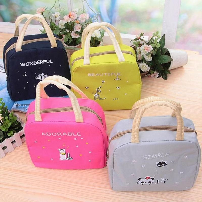 1afabdbb39b8 2019 Cartoon Animals Lunch Bags Women Portable Insulated Thermo Cooler Bags  Thermal Food Picnic Kids Girl Lunch Insulation Box Bag C18112802 From  Mingjing03 ...