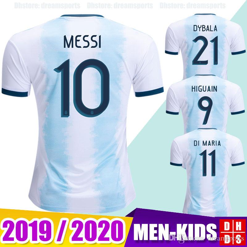 new concept 3588d 06941 2019 Argentina Soccer Jersey Copa America 2020 New MESSI DYBALA HIGUAIN  ICARDI Camisetas de futbol Men Women Kids football Soccer Shirt Kit