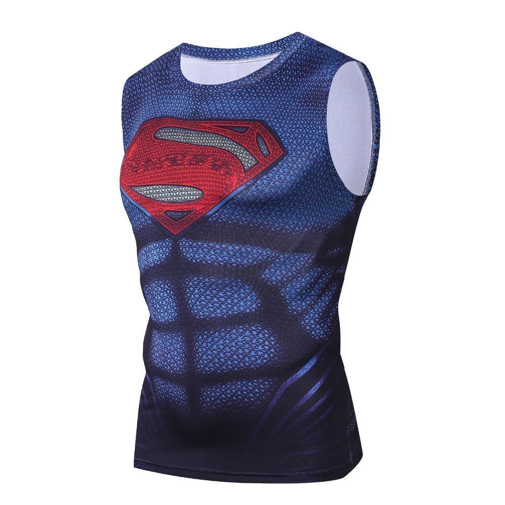cbf31dcb2863c7 2019 2018 Marvel Superman Summer Mens Clothing Sportswear G Ym Tank Tops Men  3d Print Crossfit Vest Compression Bodybuilding Tanktop C19040301 From ...