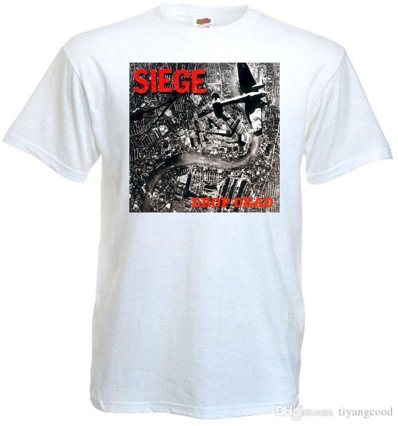 08ffefabf9a Compre Dropdead V2 T Shirt Branco Hardcore Punk Grindcore Todos Os Tamanhos  S 5XL De Tiyangcood