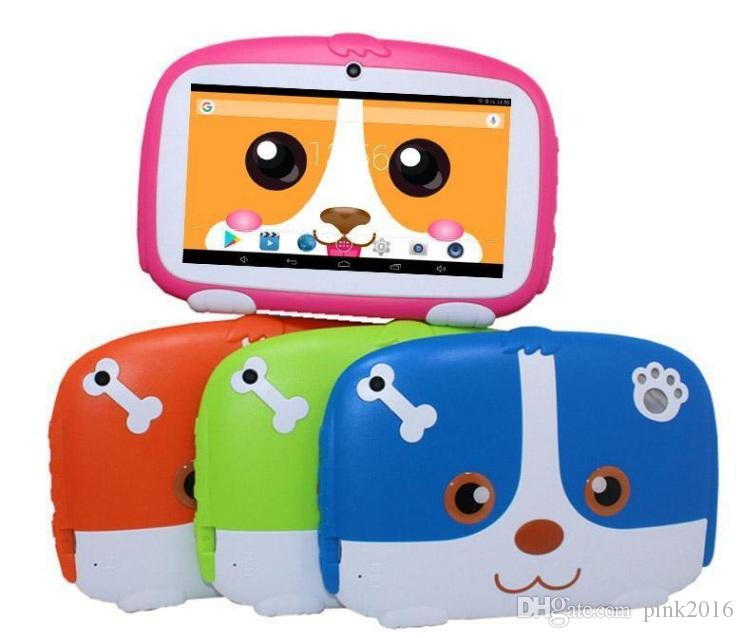 """Kids Tablet PC 7"""" 7 inch Quad Core children tablet Android 6.0 Allwinner A33 google player 512MB/1GB RAM 8GB ROM"""