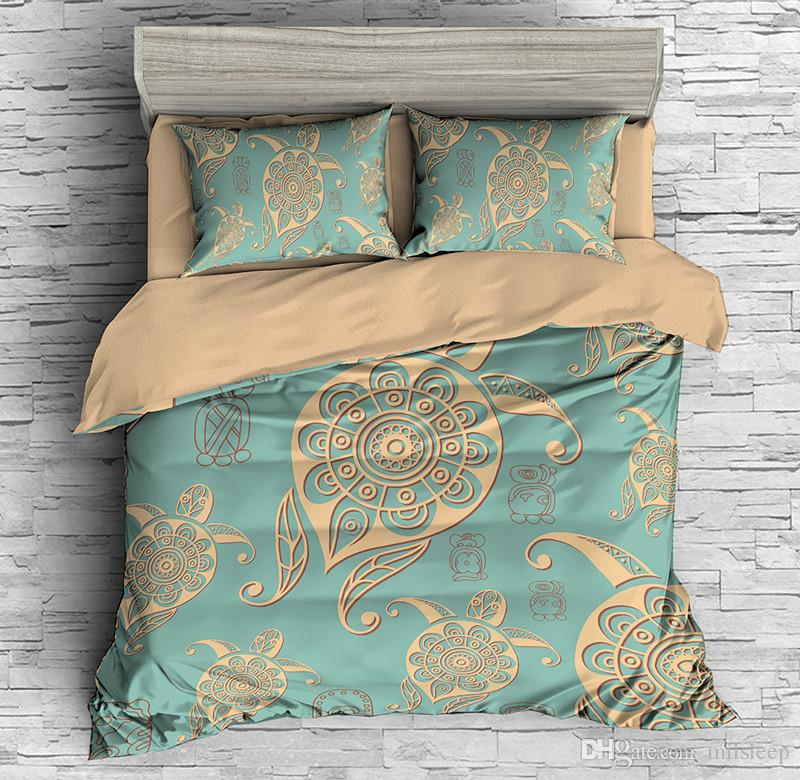 Quilt Cover with Pillowcase 3D Printed Bedding Sets Queen Size king bed linen Bed Set