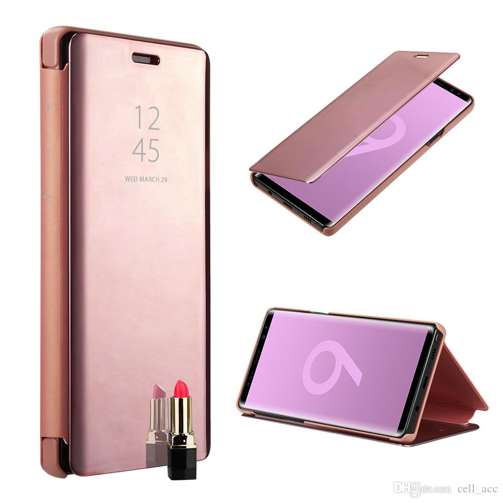 2bf137104db Accesorios Para Celulares Para Samsung Galaxy Note 9 Funda Para Teléfono  Electroplate Claro Smart Kickstand Espejo View Flip Cover Para Samsung  Note9 Fundas ...