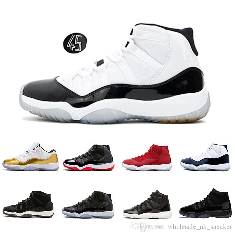 cheap for discount 398c5 d9eba 2018 11 11s Concord 45 Mens Basketball Shoes Cap And Gown Platinum Tint  Bred XI Gym Red Closing Ceremony Men Women Sports Sneaker From  Wholesale nk sneaker, ...