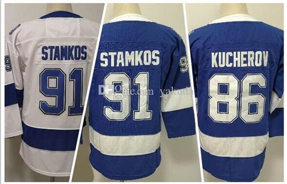 KID Discount Cheap Athletic fan clothing jerseys,Winter 2019 Fanatics 86 KUCHEROV 91 STAMKOS Hockey Jerseys,fan shop online store for sale