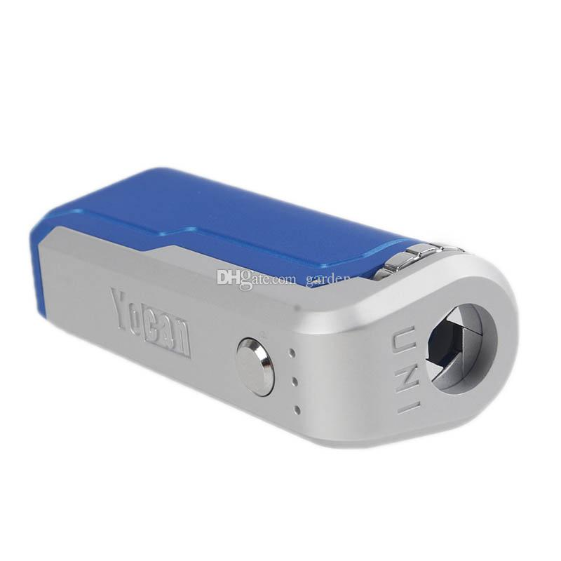 Original Yocan UNI Box Mod 650mAh Preheat Variable Voltage VV Battery For 510 Thick Oil Vape Cartridge Ecig Mods 100% Authentic