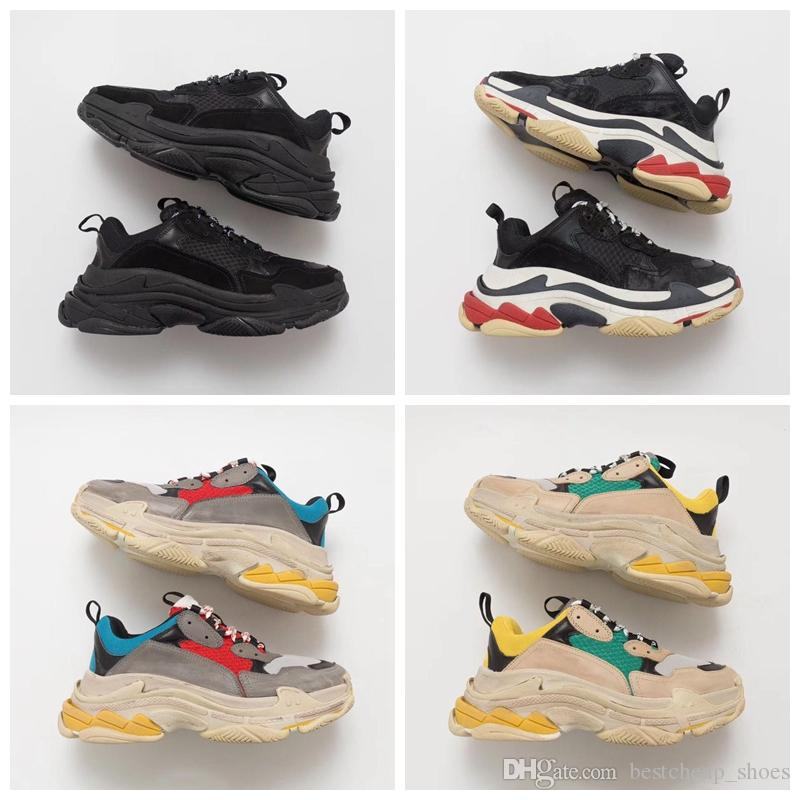 5e1c0acaf2 Scarpe Trail Running Balenciaga Triple S Sneaker 2019 Fashion Paris 17FW Triple  S Sneakers Triple S Casual Dad Mens Scarpe Firmate Le Donne Beige Nero ...