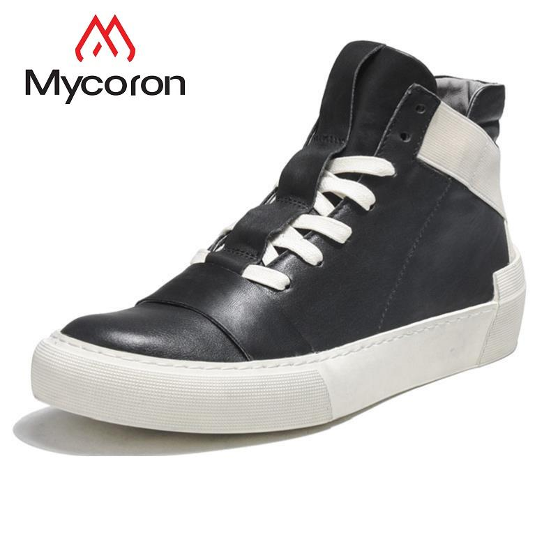 83ec4eb9c MYCORON The New Listing Men Casual Boots Spring/Autumn High Top Lace ...