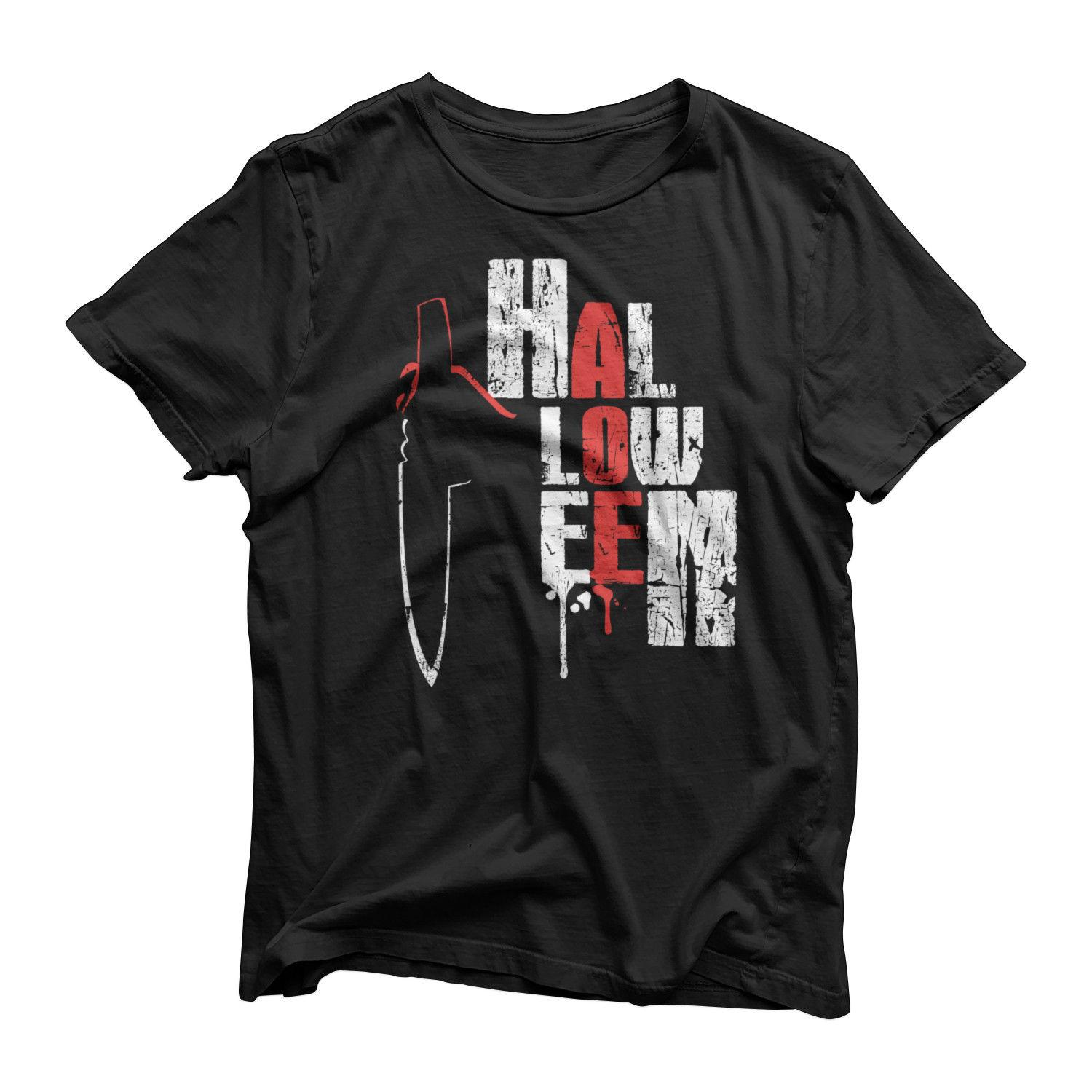 Halloween 2018 Michael Myers Knife.Michael Myers Scary Knife Halloween Film Movie Inspired Horror T Shirt Top 2018 New Brand Mens T Shirt Cotton Short Sleeve Print