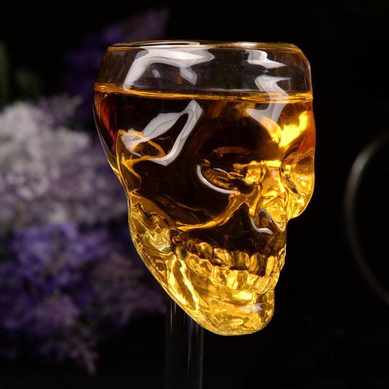 12 adet 55 ml Kafatası Cam Bardak Bira Şarap Barı Kafatası Cam Kafa Votka İçme Ware Ev Bar Parti Hediye Artware Deco Kadeh Bardak