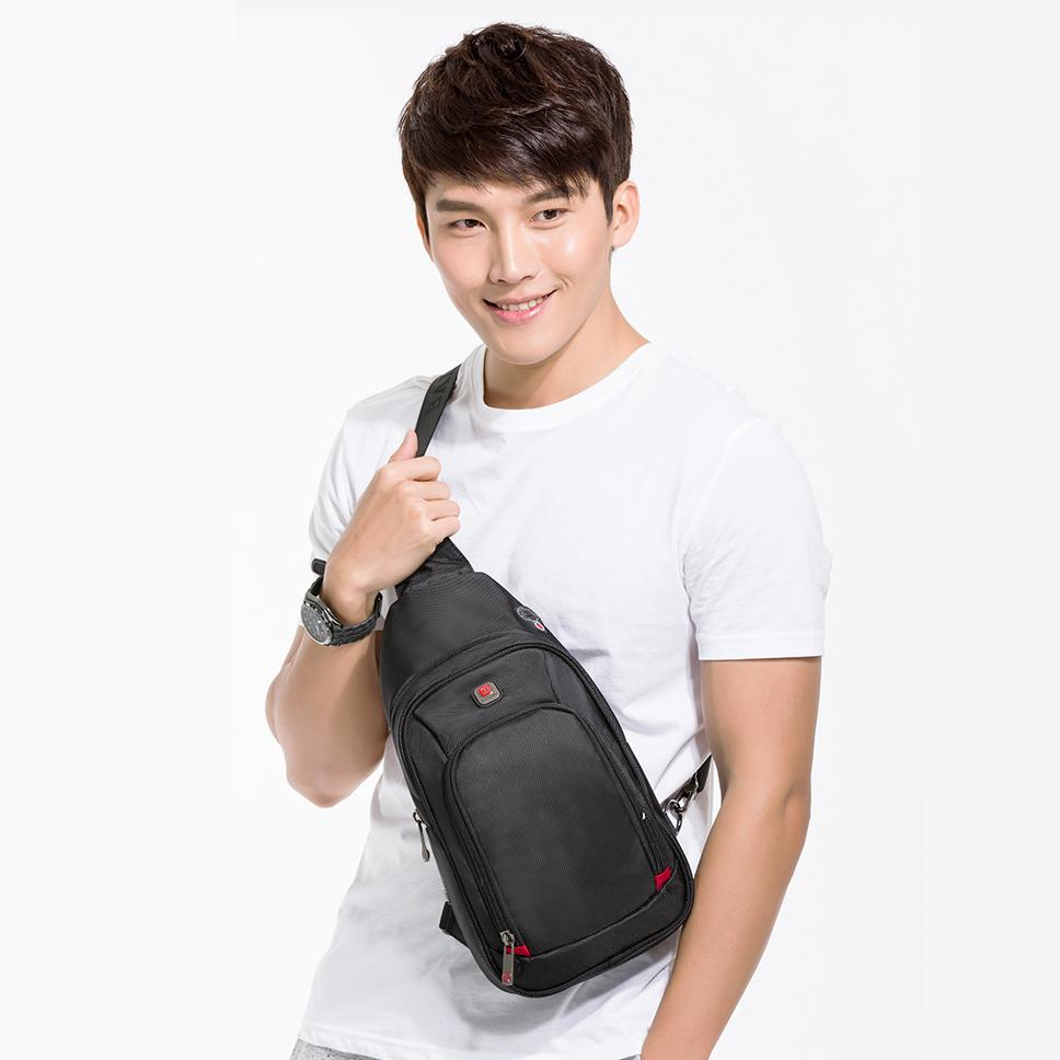 Waterproof Shoulder Bag Single for Fashion Pack Bags 2017 Messenger New Men Chest Nylon Casual Crossbody Strap