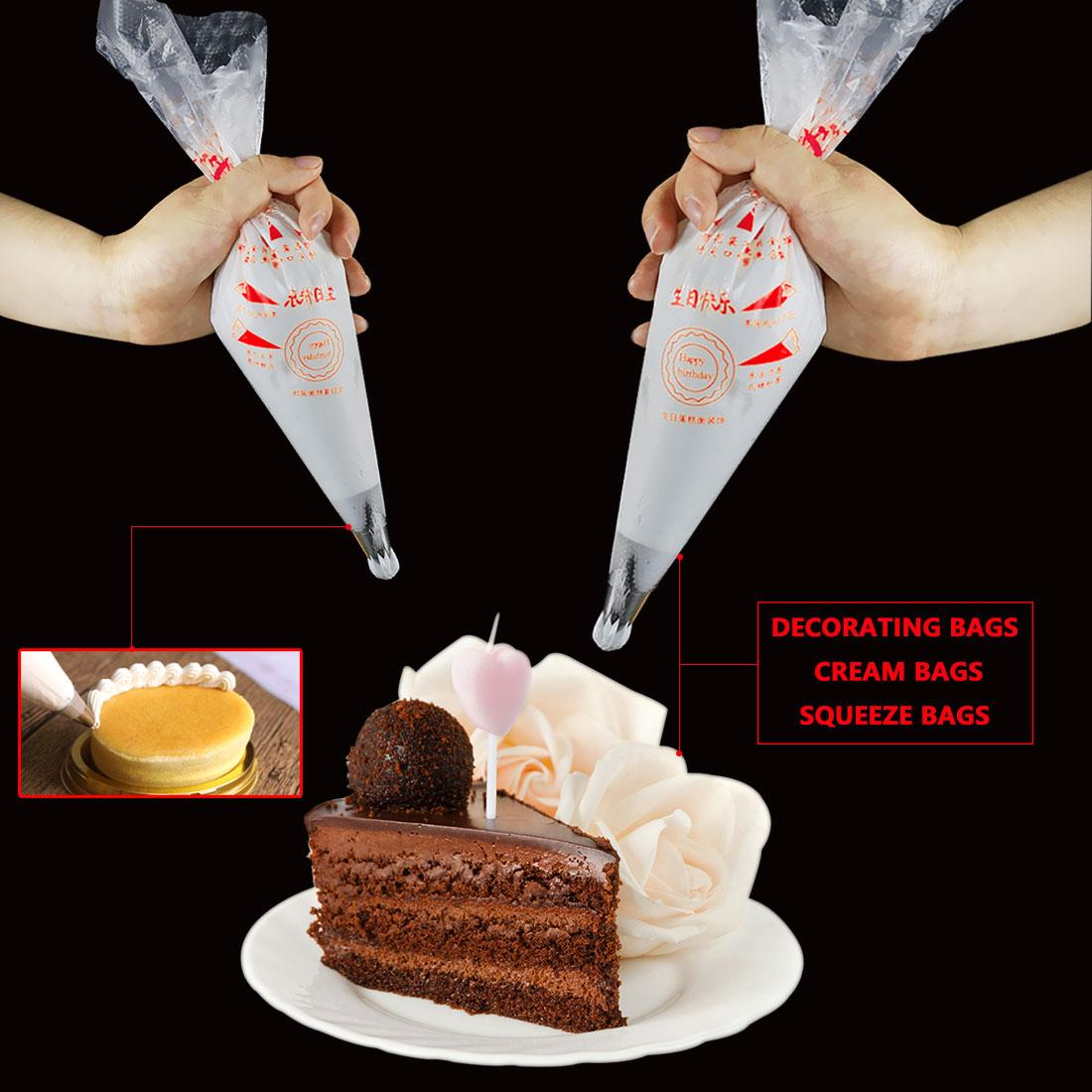 Kitchen Accessories Disposable Pastry Bag Icing Piping Cake Pastry Cupcake Decorating Bags
