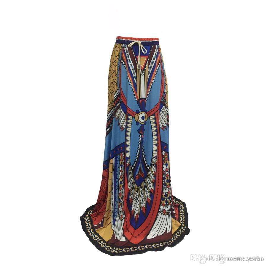 b3692fc5e African Skirt For Female Skirts African Tribes Totem Print Vintage A ...