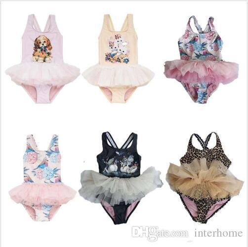94aa189e4d 2019 Kids Swimwear Ballet TUTU Swimsuit Girls Tulle Skirt Bikini ...