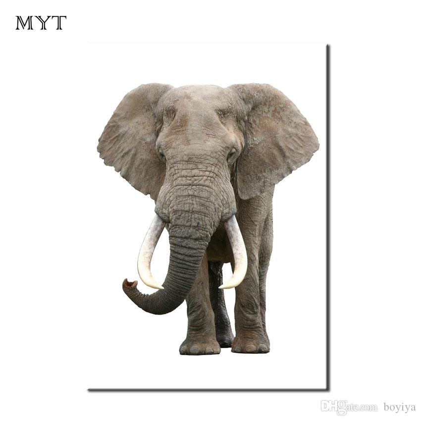 Fashion Clear photo Wall art Painting HD printed Picture Home Decor animal elephant for Living Room Canvas Print Oil Painting Unframed