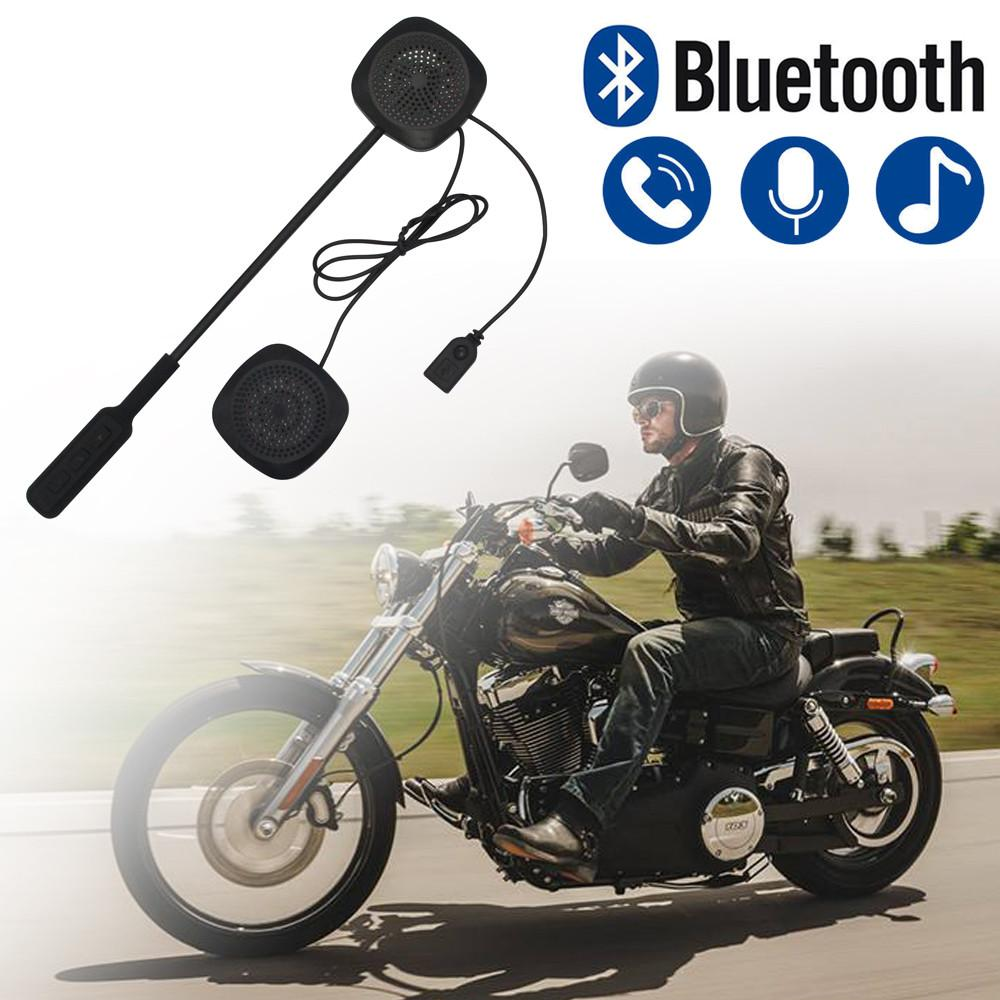 Bluetooth Motorcycle Helmet Headset Motorbike Handsfree Headset Headphone intercom for Music GPS Car styling #M