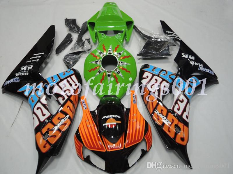 (Injection Mold) New ABS Motorcycle Full Fairings set Fit for HONDA CBR1000RR 2006 2007 CBR1000RR 06 07 Fairing No21