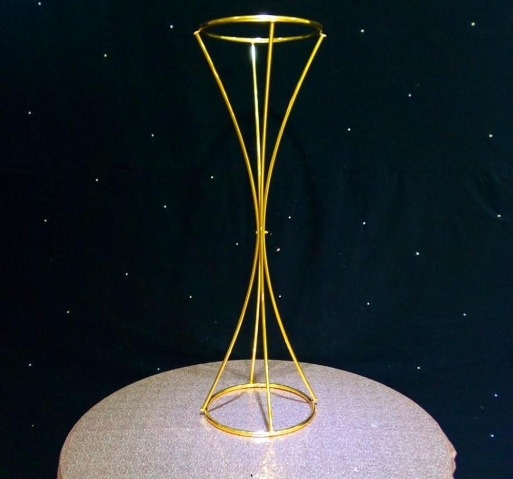 80cm Tall Wedding Flower Vase Metal Trumpet Vase For: 80CM Glossy Gold Metal Vases Flower Stand Metal Road Lead