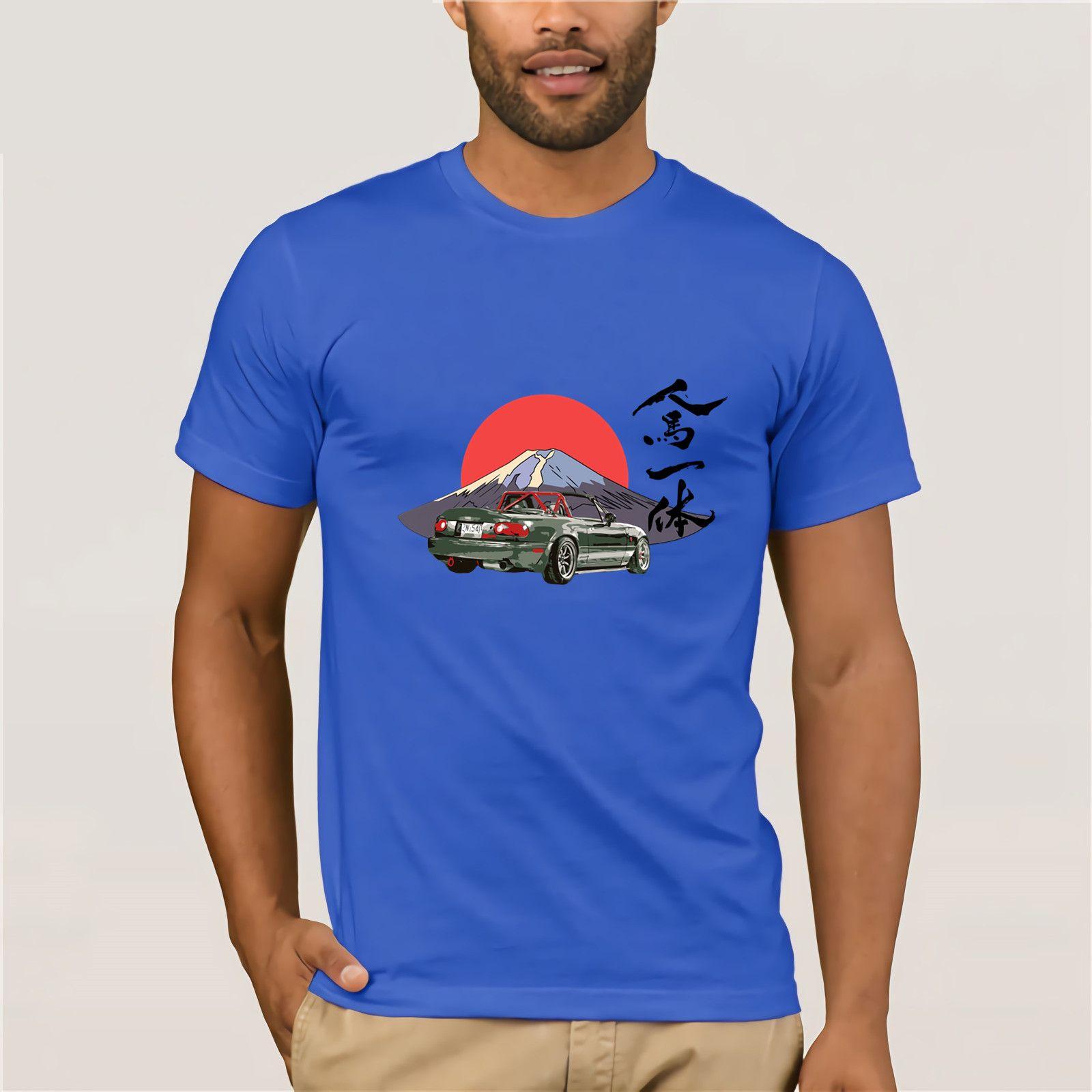 0ae64fc7dca 2019 Japanese Style Mazda Miata Mx5 T Shirt Hombre Jinba Ittai Mount Fuji  Edition T Shirt Homme Graphic Printed Tshirt Camisetas Buy T Shirts Online T  Shirt ...