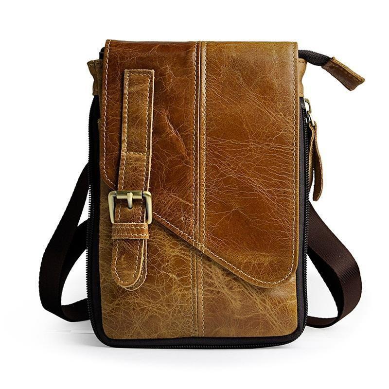 0992c5e3ddd4 Vintage Genuine Leather Men Waist Bags Travel Fanny Pack Multi Functional  Leisure Retro Man Mini Shoulder Bag Small Waist Pack Backpacks For College  Women ...