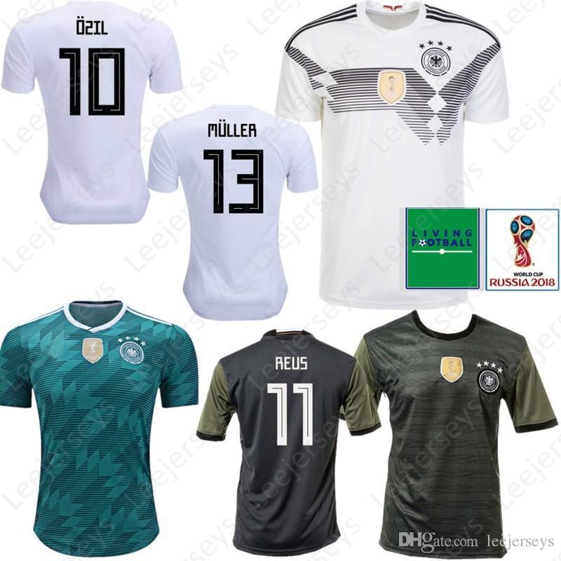 Deutschland 10 OZIL 5 HUMMELS 8 KROOS 11 WERNER Fußball Trikot 2018 WORLD CUP 13 MULLER 7 DRAXLER KROOS GOTZE Fußball Uniformen Shirt Kits