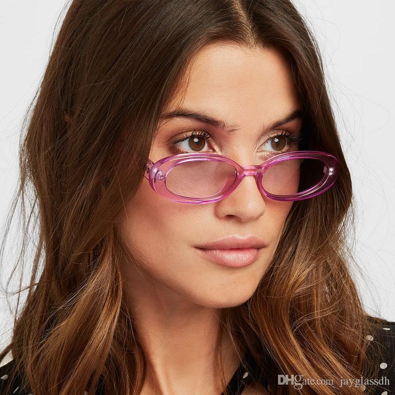 7093d28cd84c1 Compre 2019 Moda Oval Óculos De Sol Das Mulheres Designer De Marca Pequeno  Redondo Óculos De Sol Para As Mulheres Presente Shades Zebra Shades UV400  Atacado ...