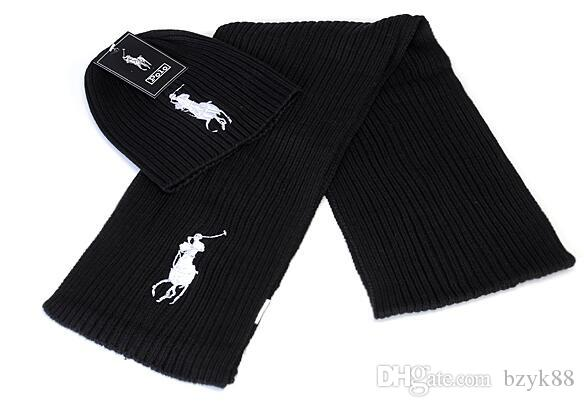 Hot fashion brand yojojo men and women winter high quality warm scarf hat suit full knit hat warm A7833