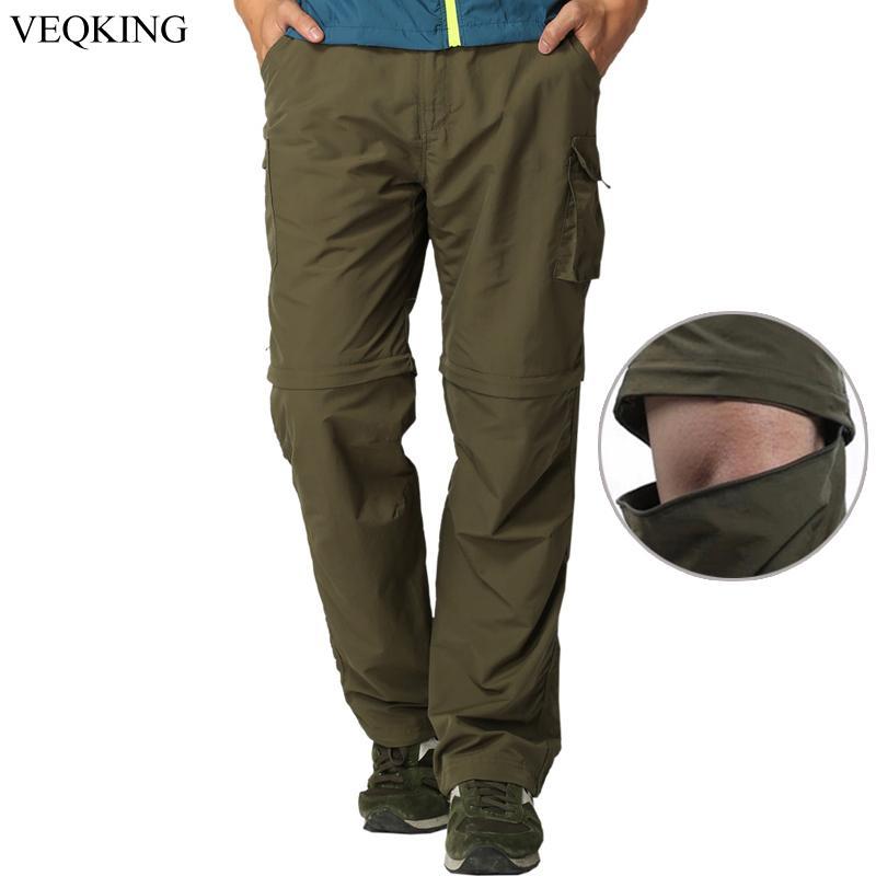 6cdbeb5ce1ec VEQKING Men s Quick Dry Removable Hiking Pants Outdoor Sport Spring Summer  Breathable Trekking Pants Camping Fishing Shorts Hiking Pants Cheap Hiking  Pants ...
