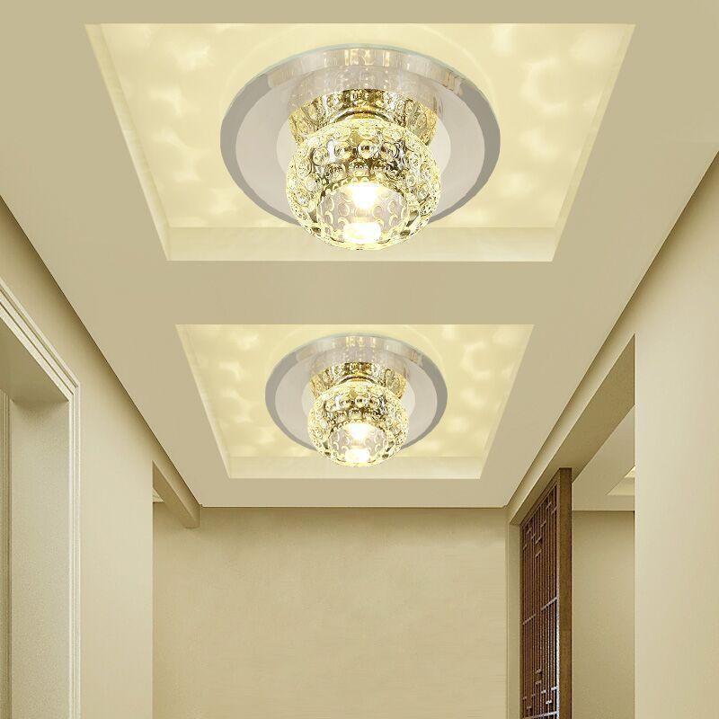 Crystal Modern 3W 5W Aisle LED Deckenleuchte Wohnzimmer Kristall Flur  Strahler Gang Deckenleuchten LED Deckenleuchten Kronleuchter Licht